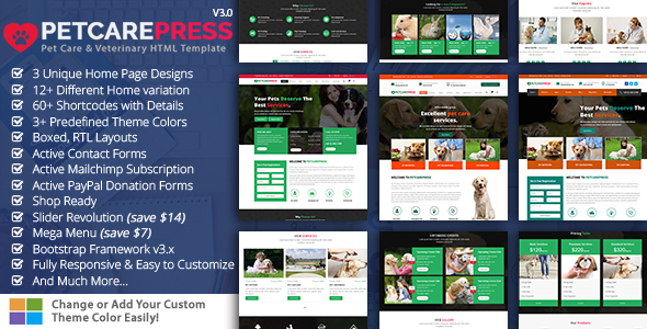 Pet & Shop - Pet Care - Miscellaneous Site Templates