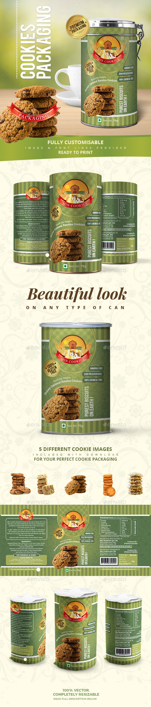 GraphicRiver Cookies Packaging 21106090