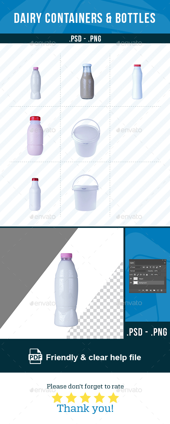 GraphicRiver Dairy Containers and Bottles Collection 21110172