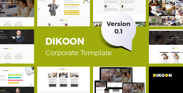 Dikoon – Corporate and Business HTML5 Responsive Template - Business Corporate