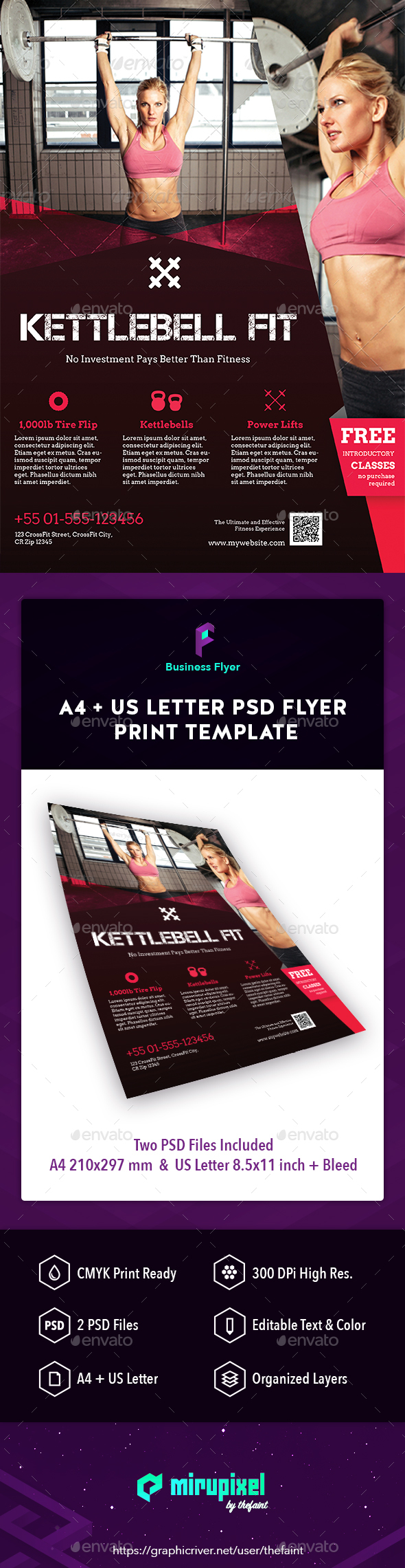 Business Flyer - Kettlebell Fit - Sports Events