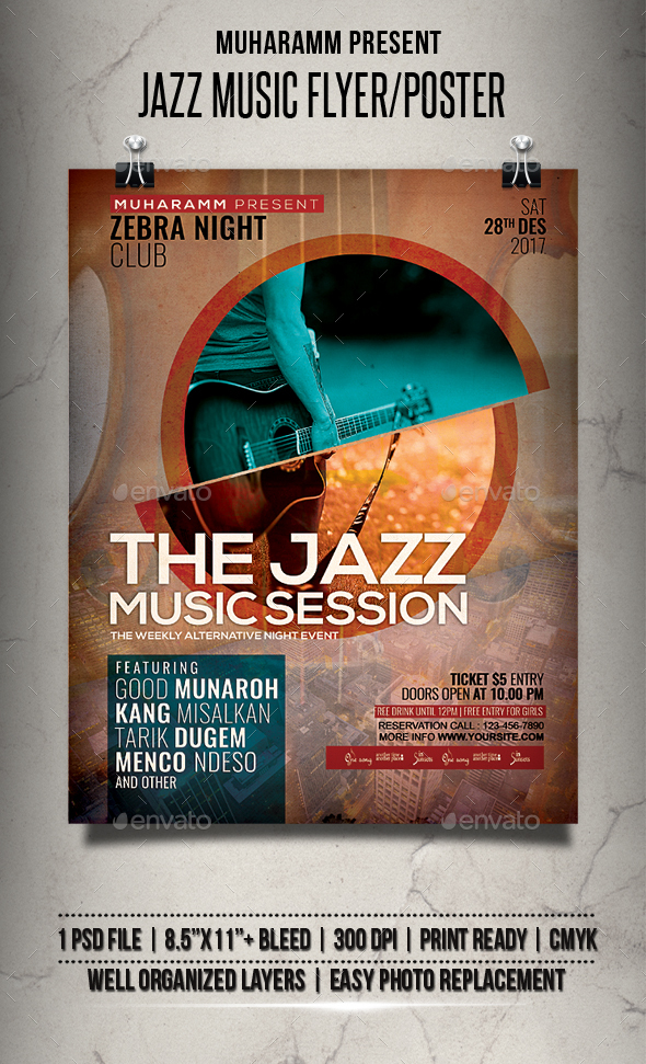 GraphicRiver Jazz Music Flyer Poster 21110259