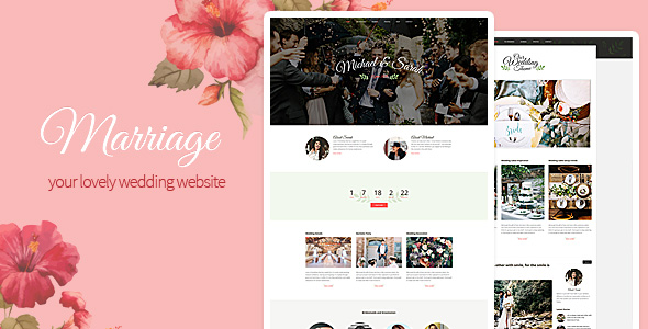 Marriage - Responsive Wedding Wordpress Theme - theme preview screenshot