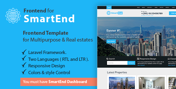 Frontend template for multipurpose & real estate - CodeCanyon Item for Sale
