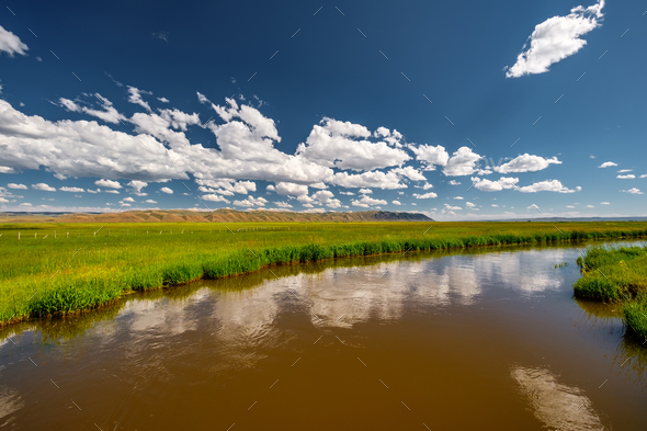 River landscape in Wyoming - Stock Photo - Images