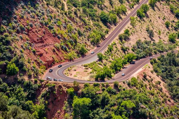 Scenic highway in Utah - Stock Photo - Images