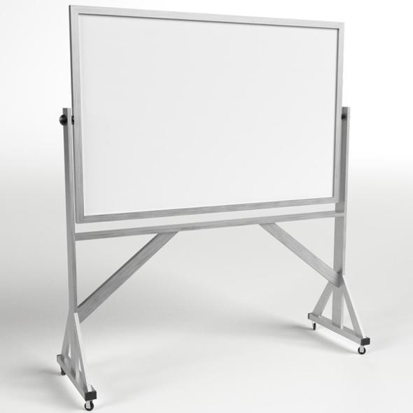 Reversible Freestanding Whiteboard - 3DOcean Item for Sale