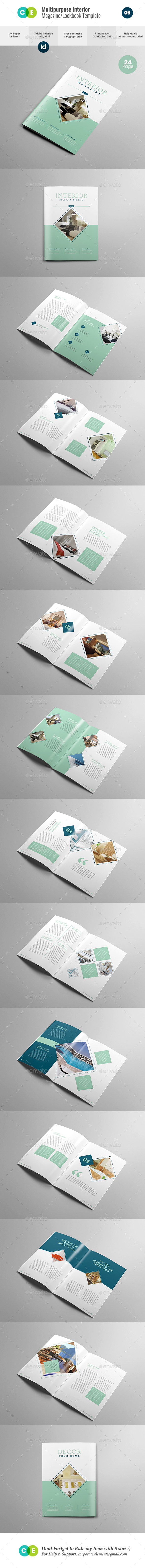 GraphicRiver THE MAGAZINE Multipurpose Interior Magazine V06 21110502