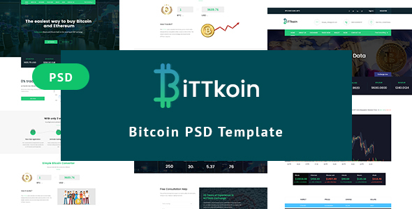 biTTkoin- Bitcoins PSD Template - Marketing Corporate
