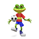 3D Illustration Frog Football Player - GraphicRiver Item for Sale