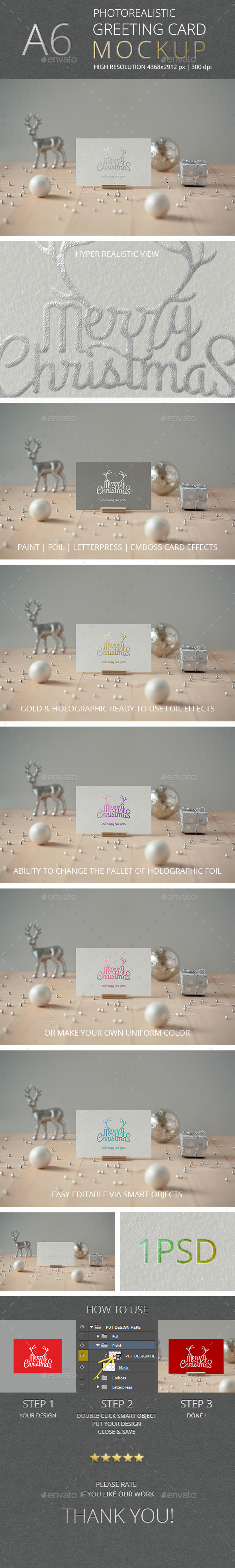 Photorealistic Invitation & Greeting Card Mockup Vol 4.0 / A6 Edition - Miscellaneous Print