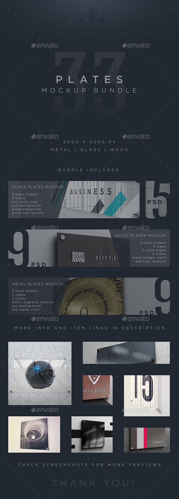 GraphicRiver Plates Mockup Bundle 21110698