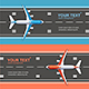 Airport Plane Runway Travel Concept Flyer Banners Posters Card Set. Vector