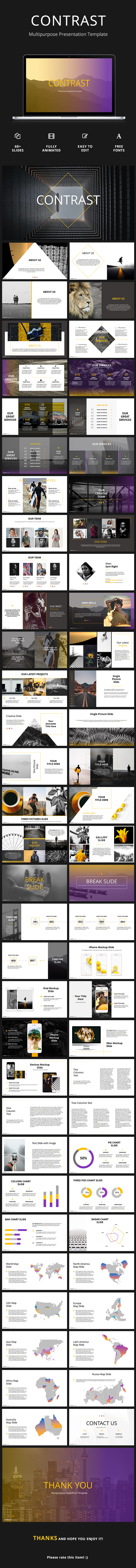 GraphicRiver Contrast Creative Google Slides Template 21110813