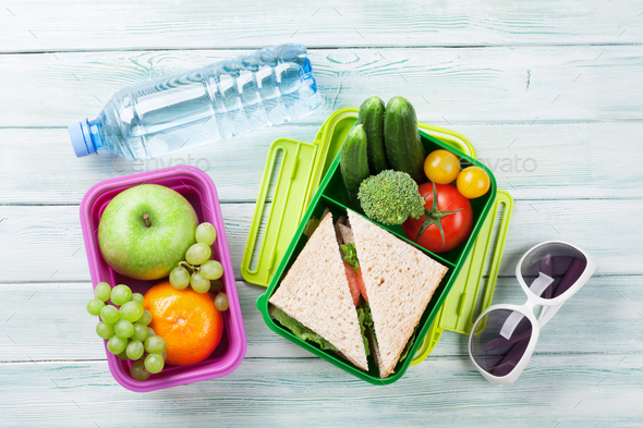 Vacation lunch box and items - Stock Photo - Images