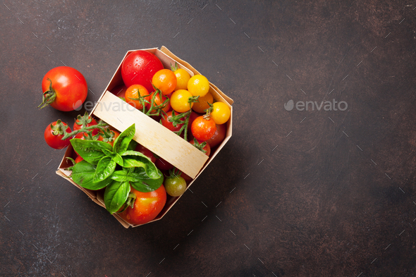 Various colorful tomatoes - Stock Photo - Images