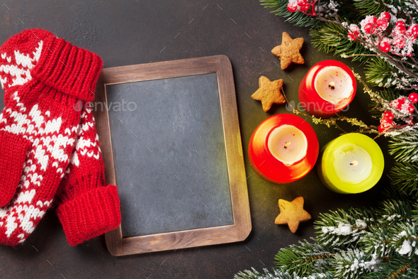 Xmas greeting card - Stock Photo - Images