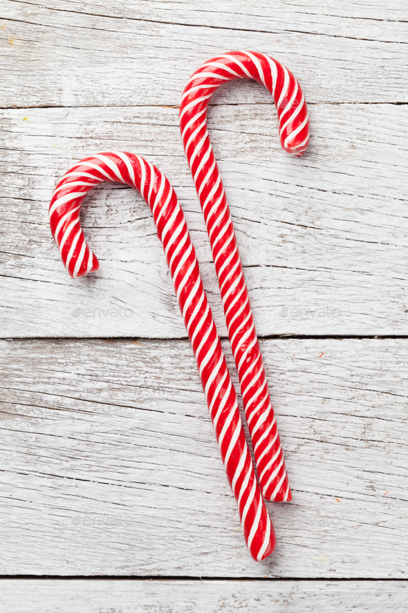 Christmas candy canes - Stock Photo - Images