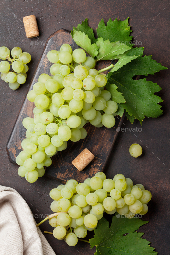 Grapes on stone background - Stock Photo - Images