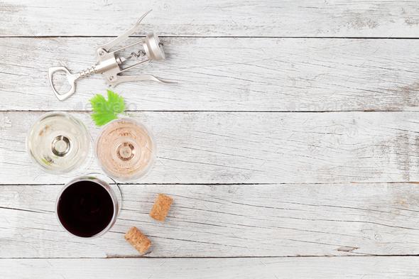 Wine glasses - Stock Photo - Images