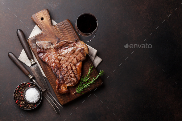 T-bone steak - Stock Photo - Images