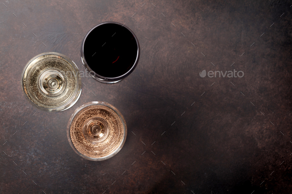 Wine glasses - Stock Photo - Images