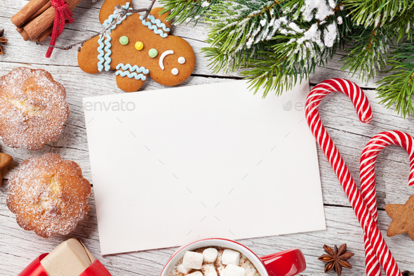 Christmas greeting card - Stock Photo - Images