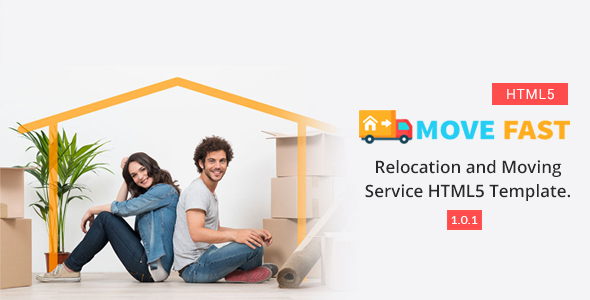 Move Fast - Relocation and Moving Service HTML5 Template - Business Corporate