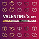 Golden and Silver Valentine's Day Icons Set - GraphicRiver Item for Sale
