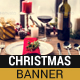 Christmas Dinner Banner - GraphicRiver Item for Sale