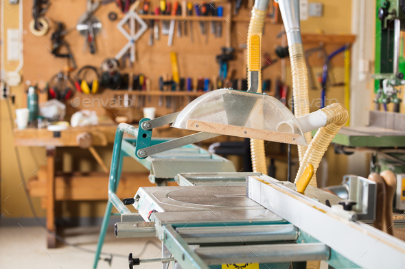 Environmental image of a craft workshop - Stock Photo - Images