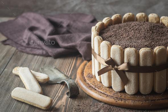 Tiramisu cake - Stock Photo - Images