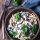 Portion of creamy mushroom linguine - PhotoDune Item for Sale