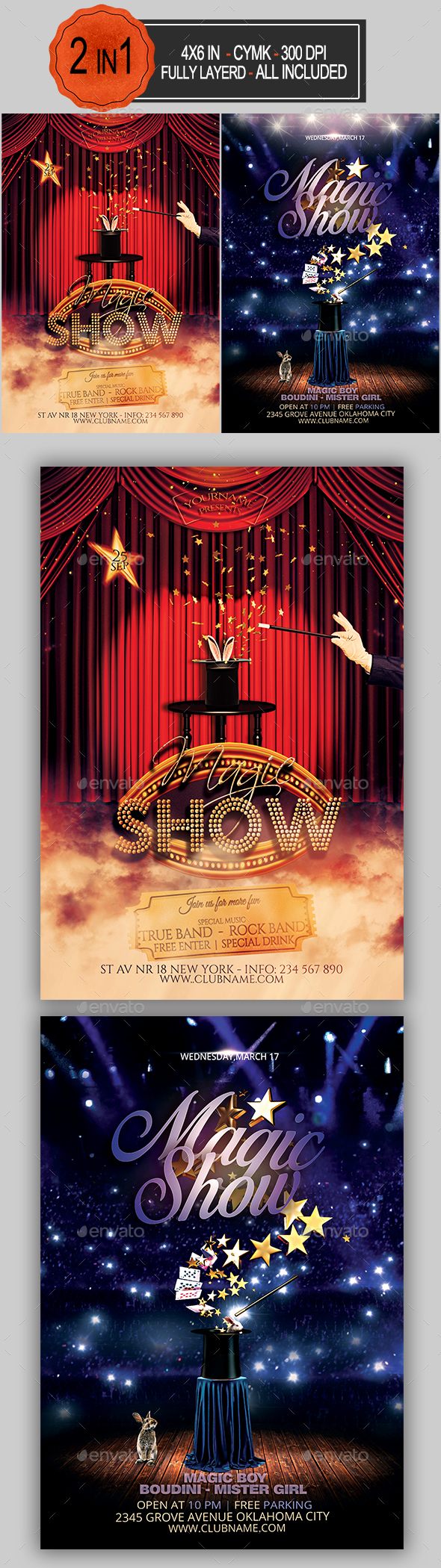 GraphicRiver Magic Show Flyer Bundle 21111309