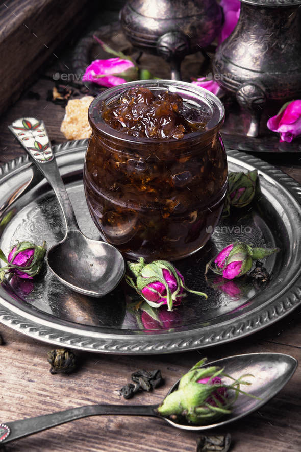 tea rose preserves - Stock Photo - Images