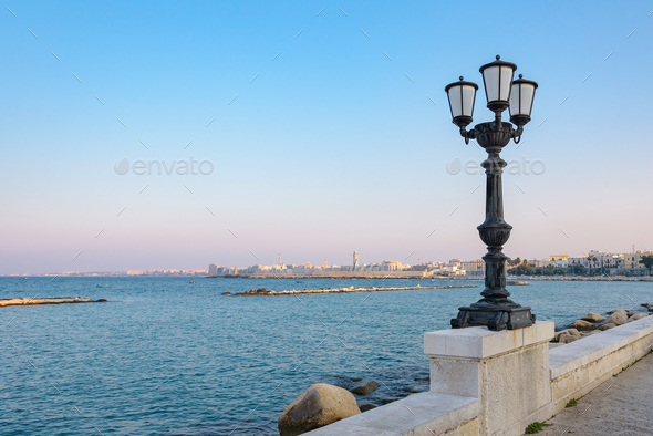 View of seafront in Bari - Stock Photo - Images