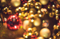 Bokeh. Christmas abstract background with colorful bokeh - PhotoDune Item for Sale