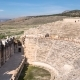 of Ruins Antique Theater in Ancient Greek City Hierapolis, Pamukkale, Turkey
