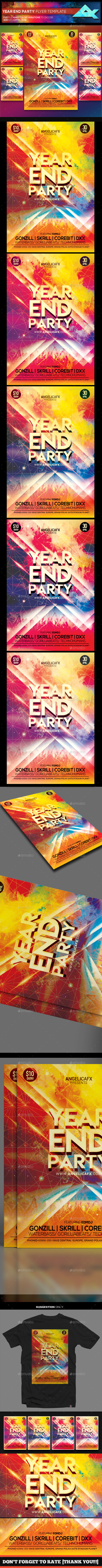 GraphicRiver Year End Party Flyer Template 21111975