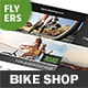 Bicycle Shop Flyers – 4 Options - GraphicRiver Item for Sale