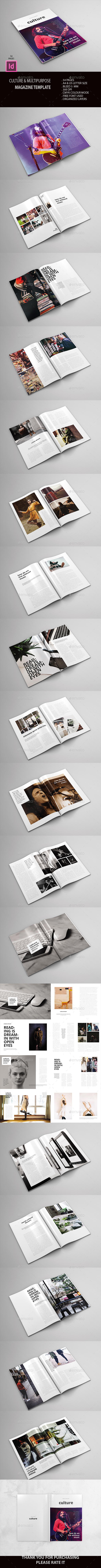 Culture & Multipurpose Magz - Magazines Print Templates