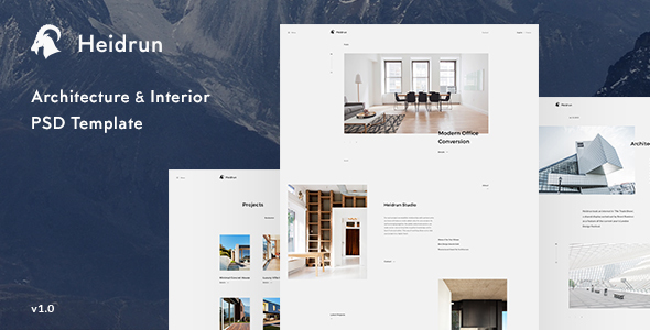 Heidrun - Architecture & Interior PSD Template Free Download | Nulled