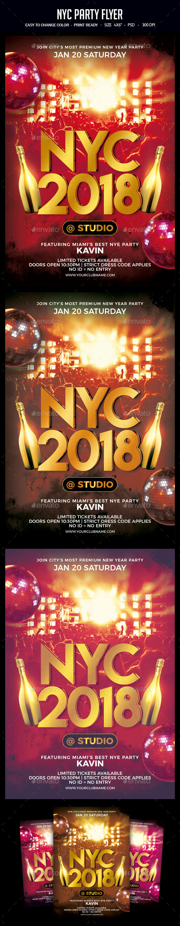 NYC Party Flyer - Clubs & Parties Events