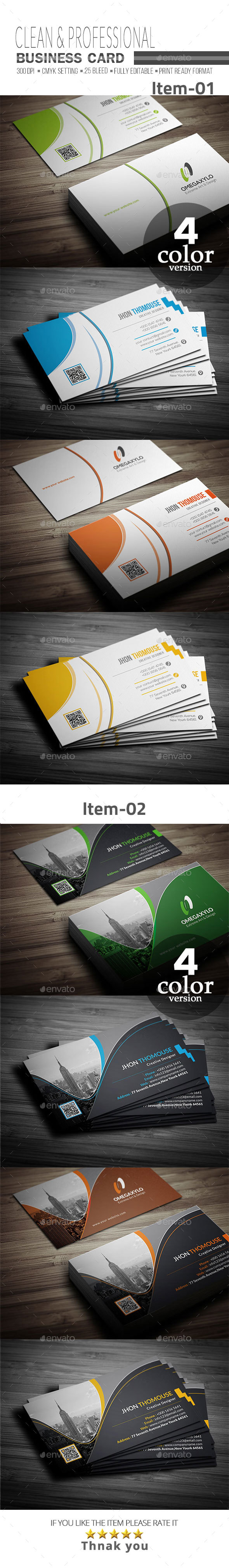 GraphicRiver Business Card Bundle 2 In 1 21112344