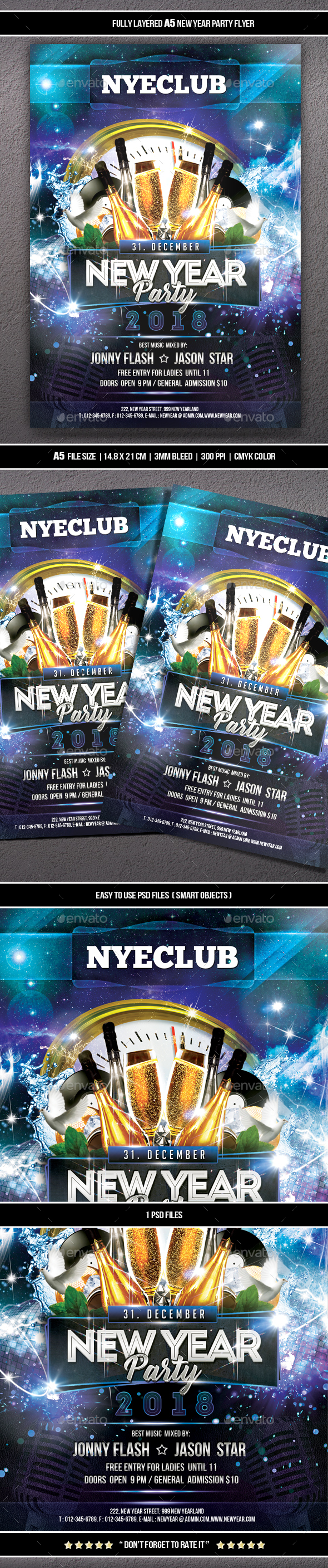 GraphicRiver New Year Party Flyer 21112386