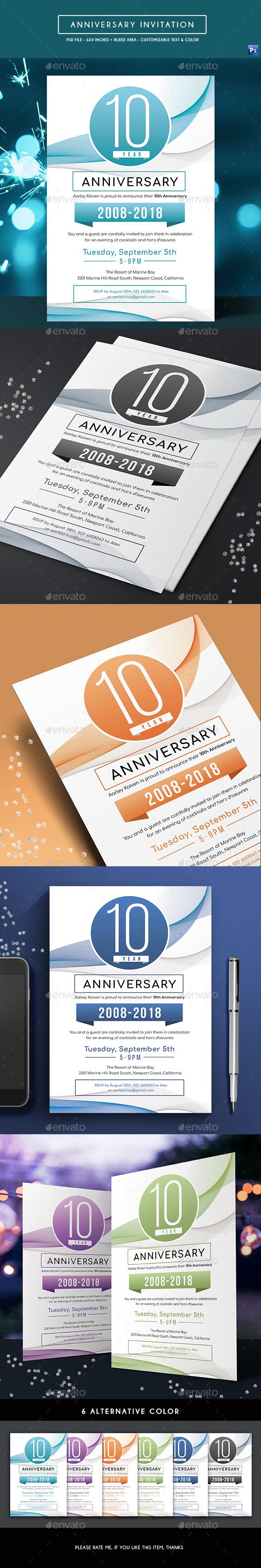 GraphicRiver Anniversary Invitation 21112419