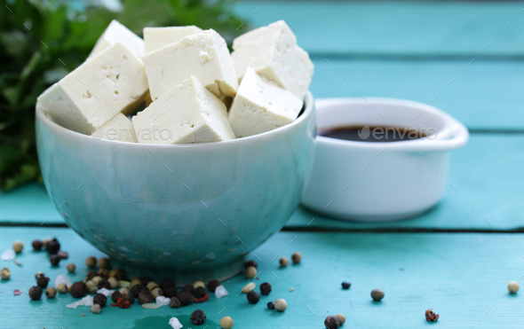 Soy Cheese Tofu - Stock Photo - Images