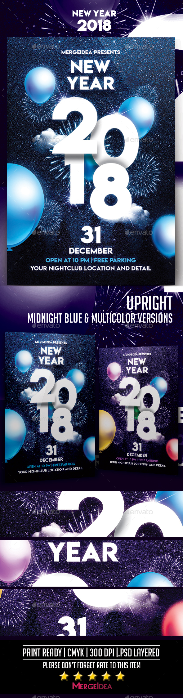 GraphicRiver New Year 2018 Party Flyer 21112425