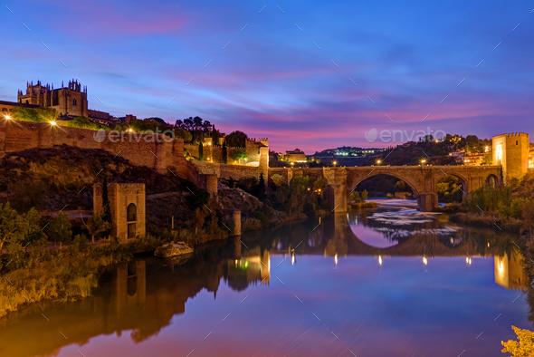 The Puente de San Martin in Toledo - Stock Photo - Images