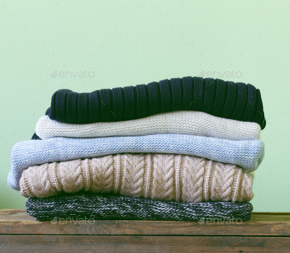 Warm Knitted Sweaters - Stock Photo - Images
